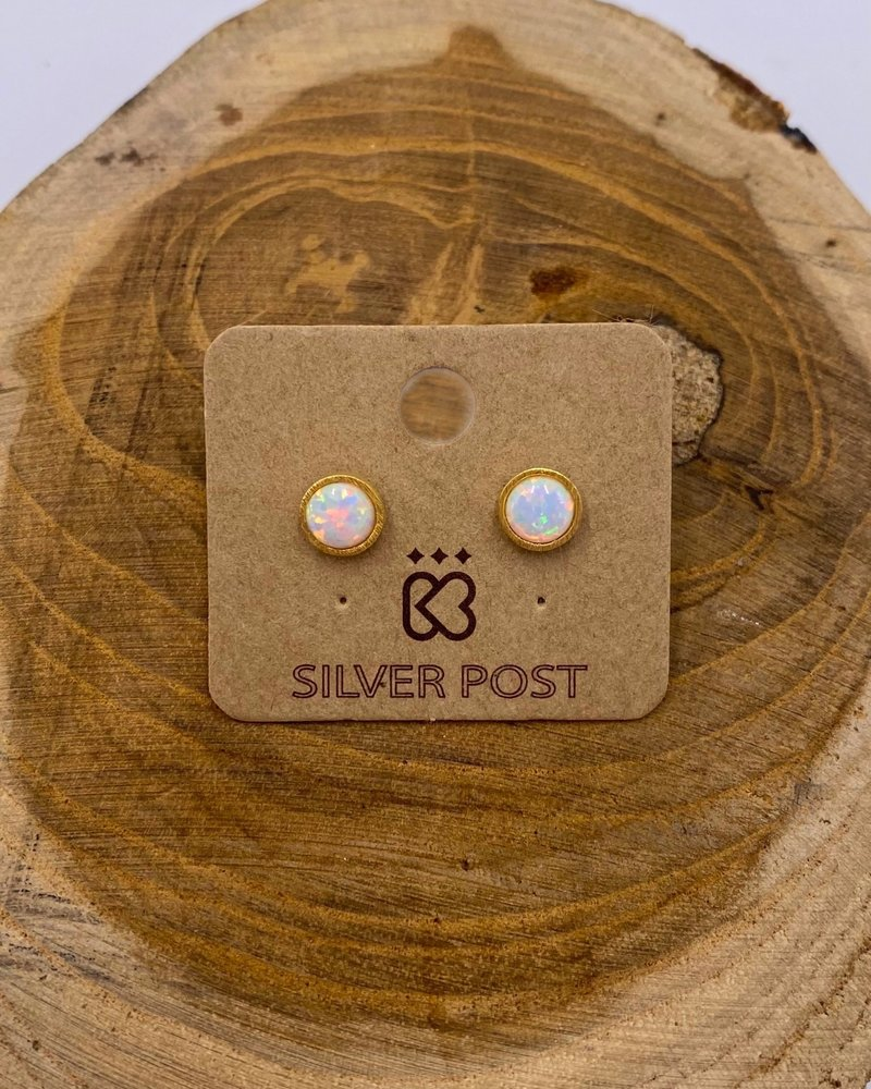 Must Have Must Have Opal Earrings   Classic Round