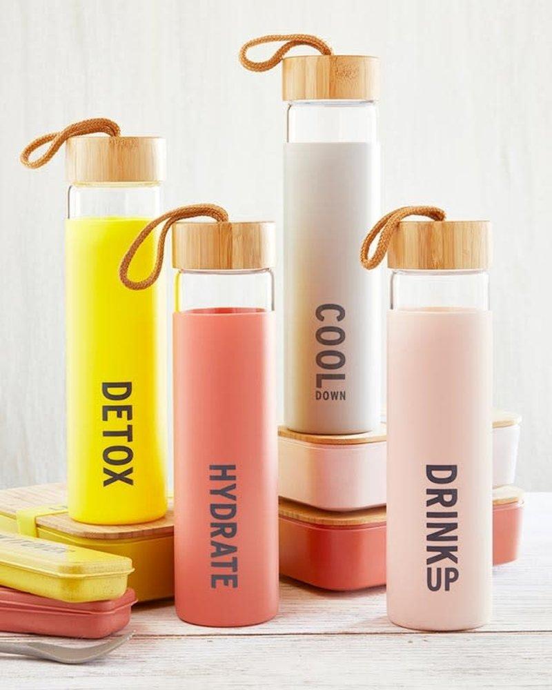 SB Design Studio SB Design Studio Drink Up Glass Water Bottle
