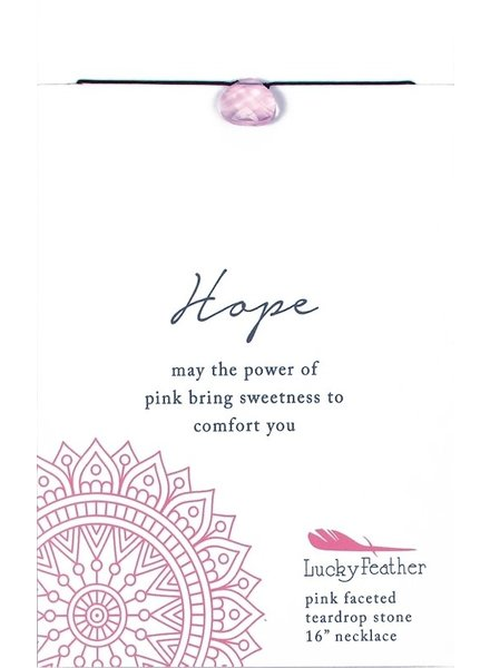 Lucky Feather Color Power Necklace | Hope