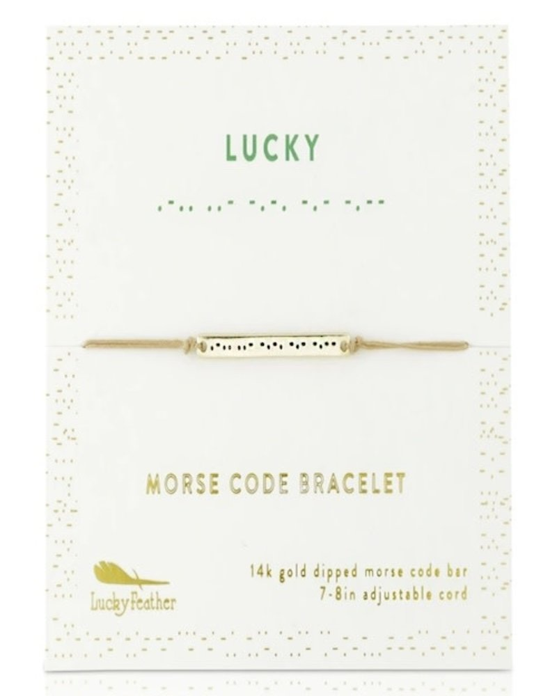 Lucky Feather Lucky Feather Morse Code Bracelet | Lucky