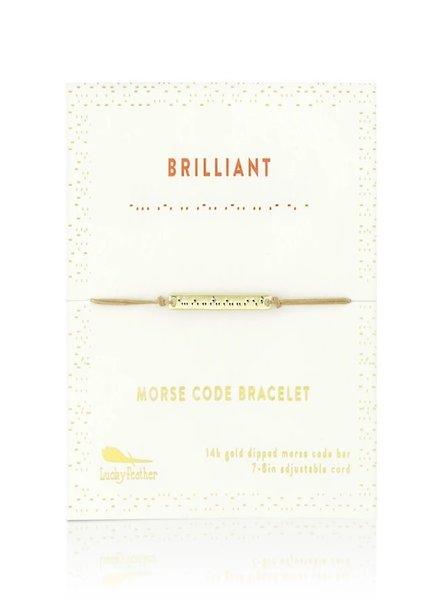 Lucky Feather Morse Code Bracelet | Brilliant