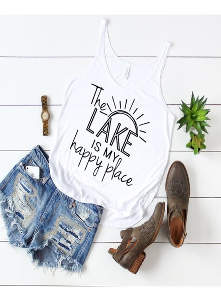 FAMS Design 'The Lake Is My Happy Place' Tank **FINAL SALE**