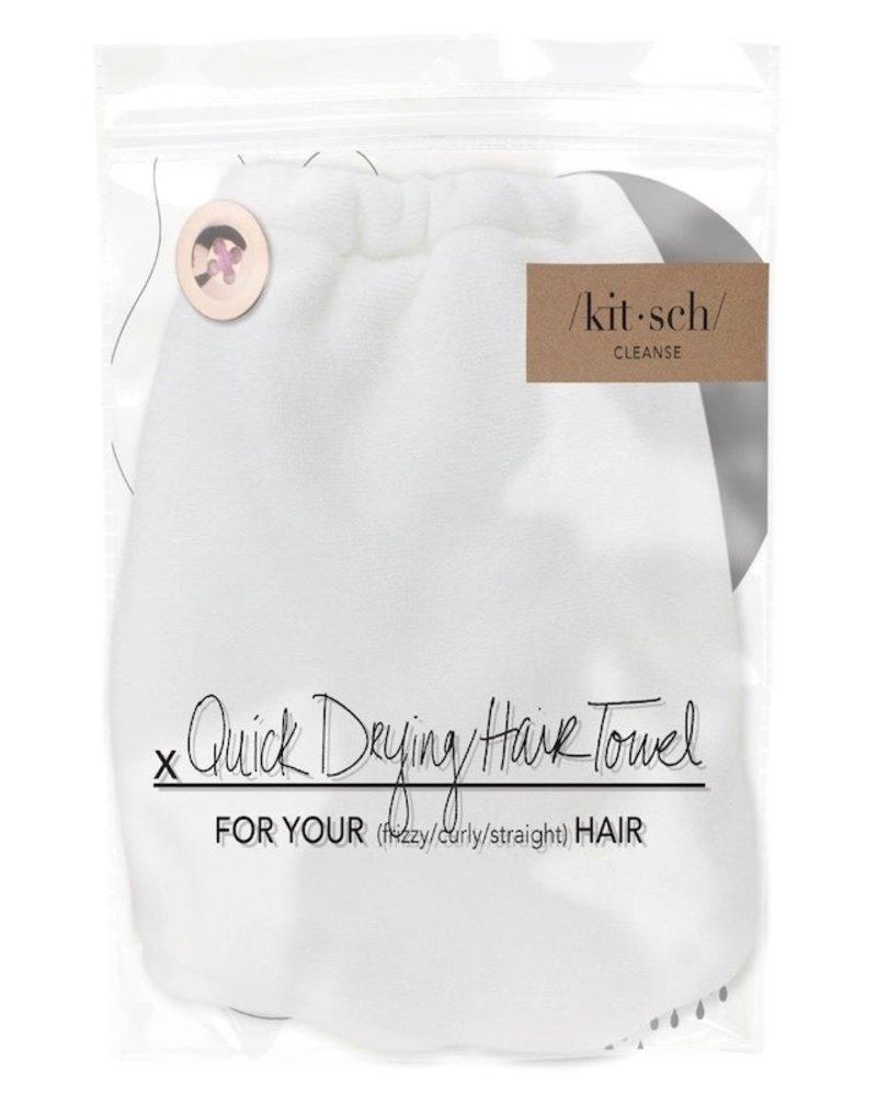 KITSCH Kitsch Microfiber Hair Towel | White