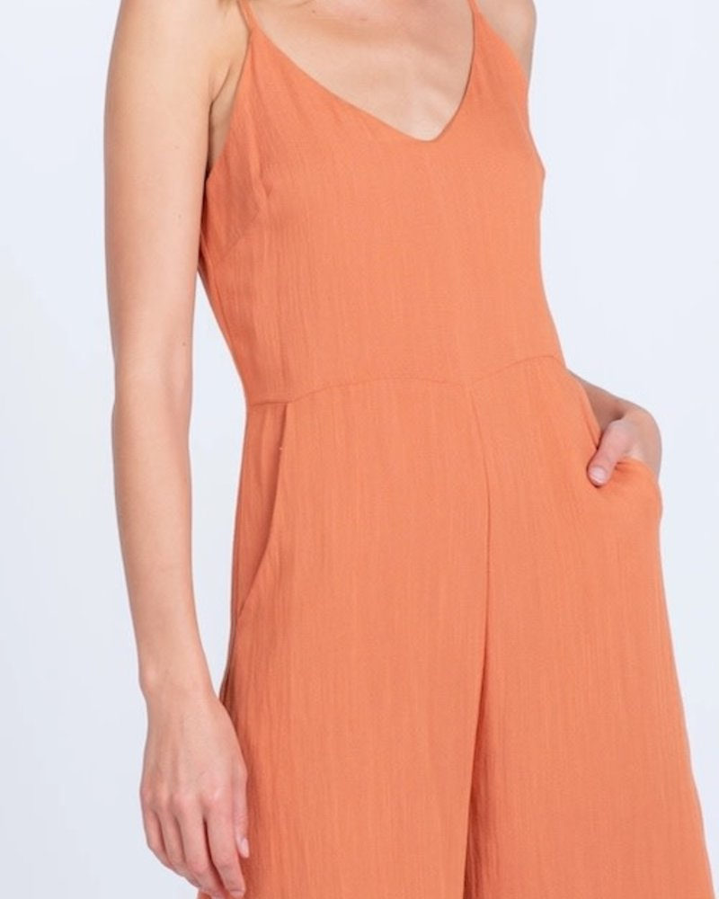 Everly Everly Spice 'Jump To The Beat' Cropped Jumpsuit ***FINAL SALE***