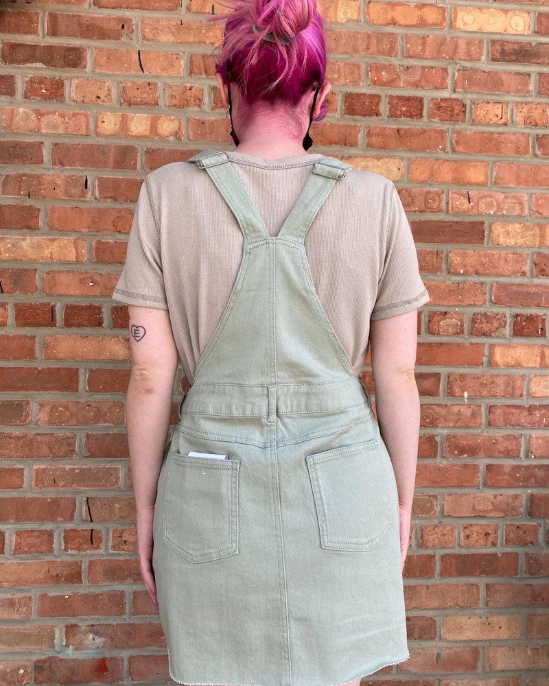 Urban Daizy Urban Daizy 'Yorktown' Overall Dress