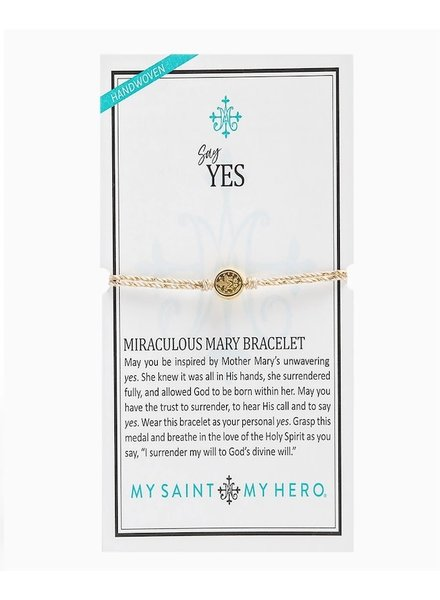 My Saint My Hero Say Yes Miraculous Mary Bracelet (More Colors)