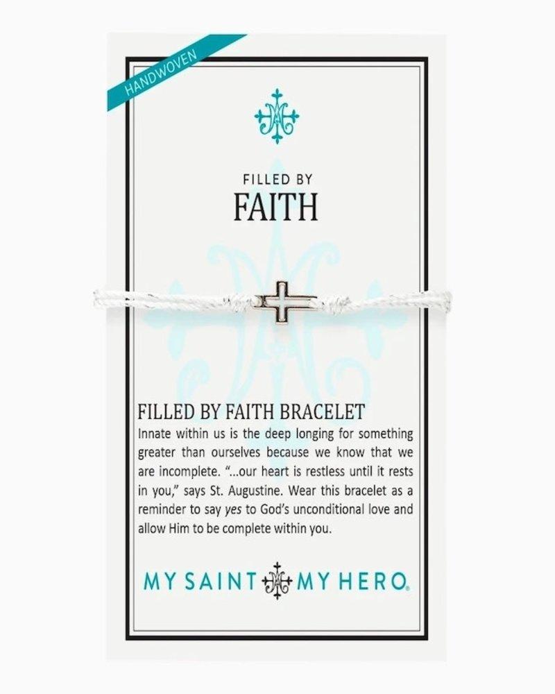 My Saint My Hero My Saint My Hero Silver 'Filled By Faith' Open Cross Bracelet