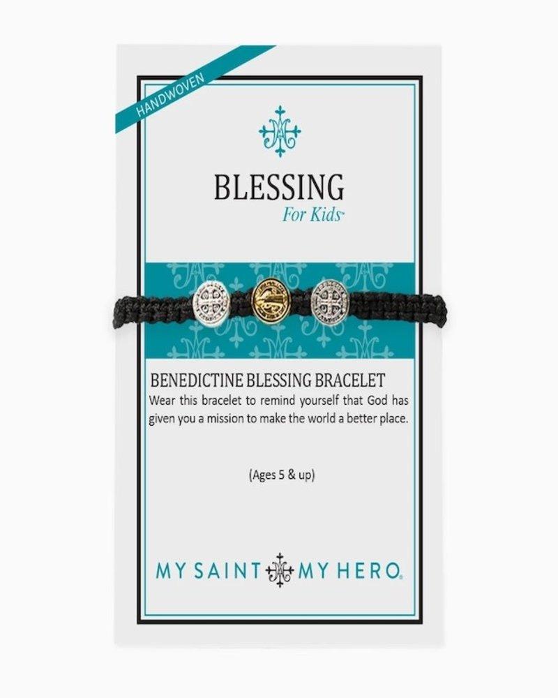 My Saint My Hero My Saint My Hero Mixed Medal Kids Benedictine Blessing Bracelet