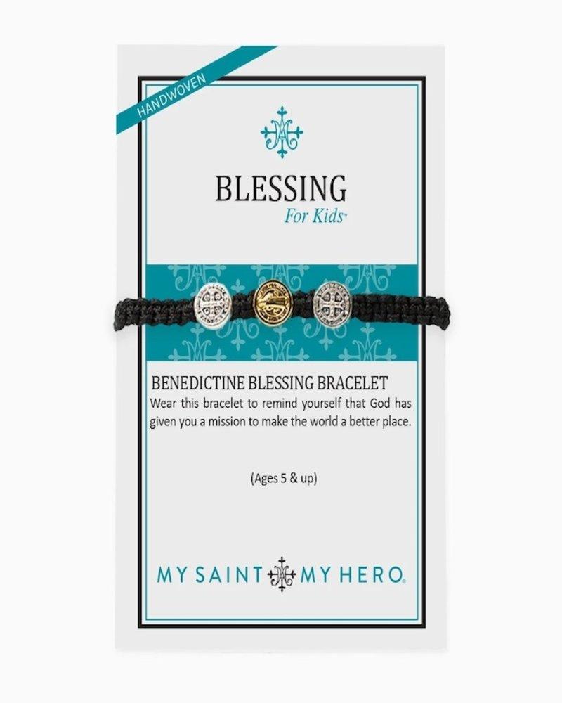 My Saint My Hero My Saint My Hero Silver Kids Benedictine Blessing Bracelet Rainbow