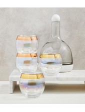SB Design Studio Iridescent Roly Poly Glass