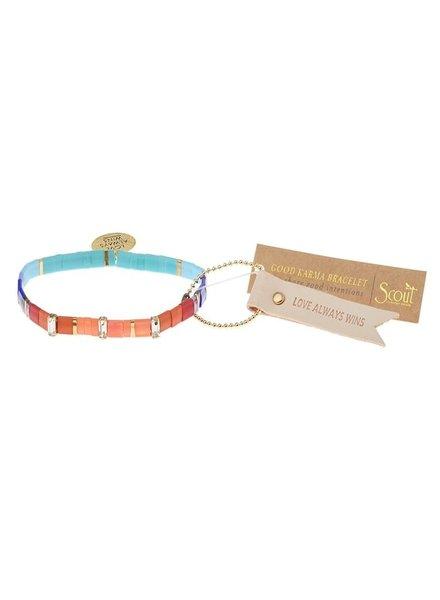 Scout Curated Wears Good Karma Love Multi/Sparkle/Gold  Miyuki Charm Bracelet
