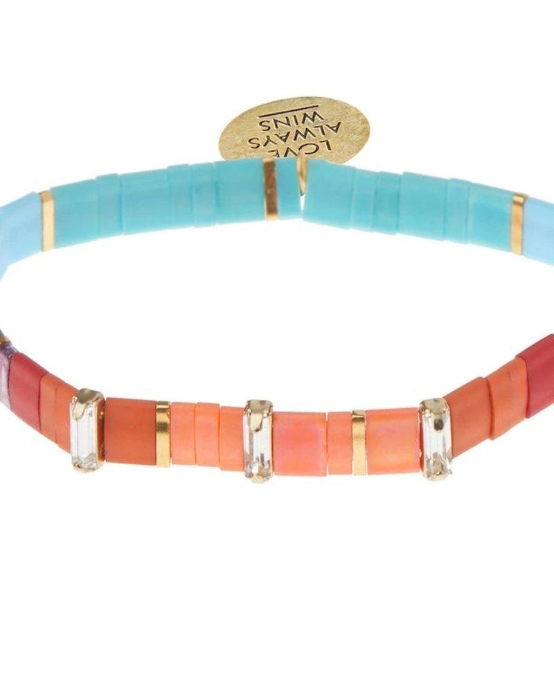 Scout Curated Wears Scout Good Karma Love Multi/Sparkle/Gold  Miyuki Charm Bracelet