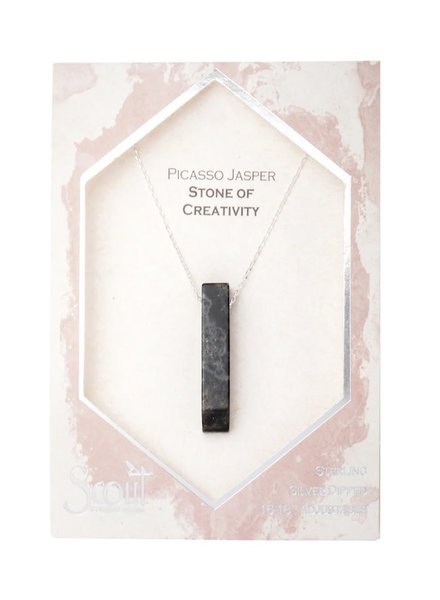 Scout Curated Wears Picasso Jasper/Silver Stone Point Necklace