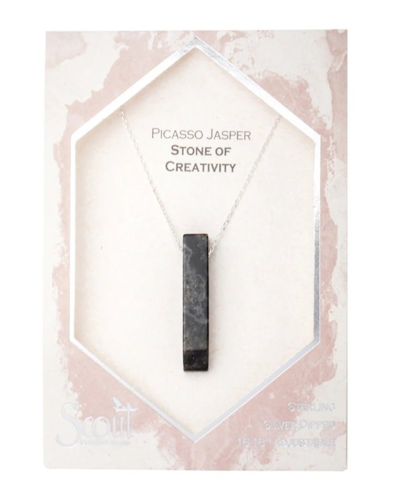 Scout Curated Wears Scout Picasso Jasper/Silver Stone Point Necklace