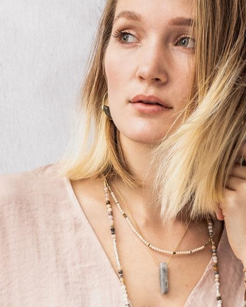 Scout Curated Wears Scout Moonstone & Gold Stone Point Necklace