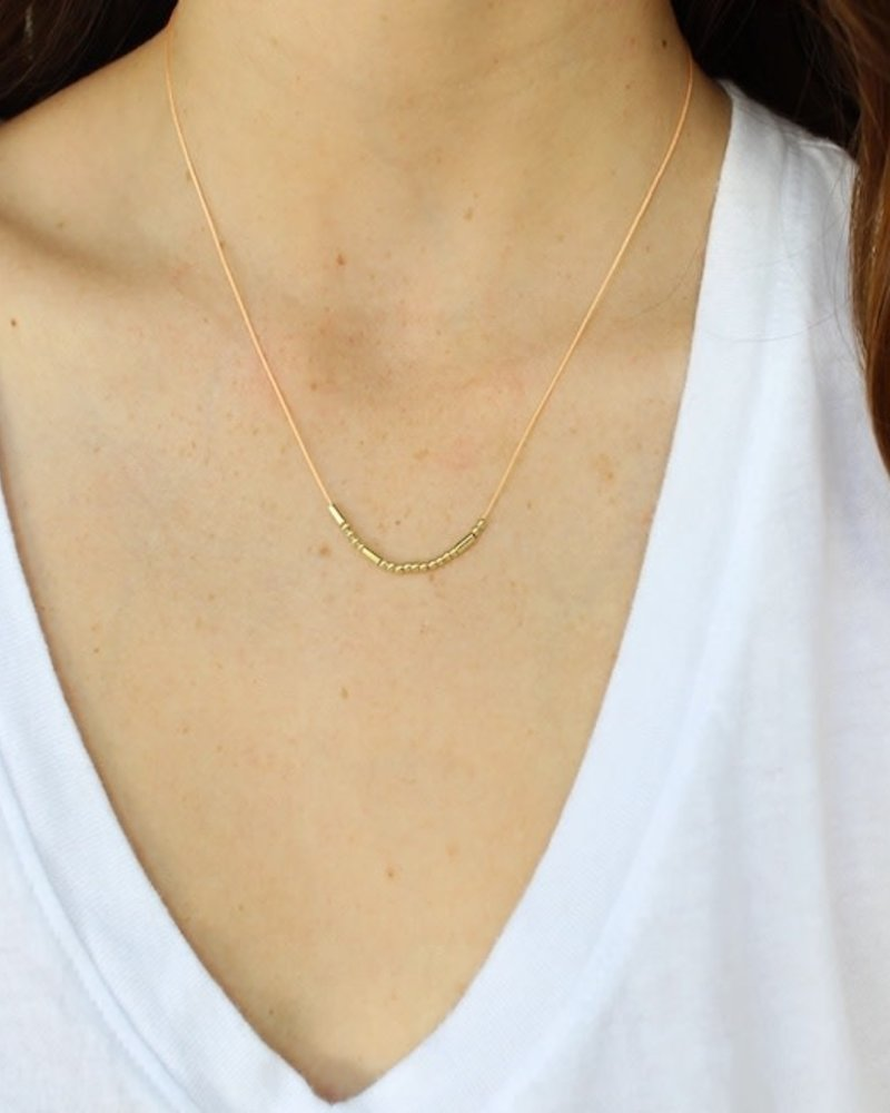 Lucky Feather Lucky Feather Morse Code Necklace   Blessed