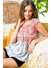 THML 'Isn't She Adorn-able' Sleeveless Top
