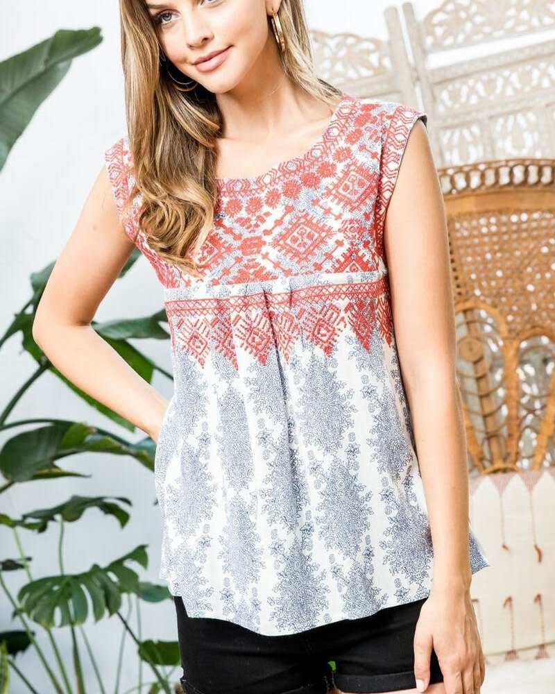 THML THML 'Isn't She Adorn-able' Sleeveless Top
