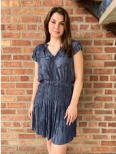 Current Air 'Mini Me' Ruffle Split Neck Mini Dress
