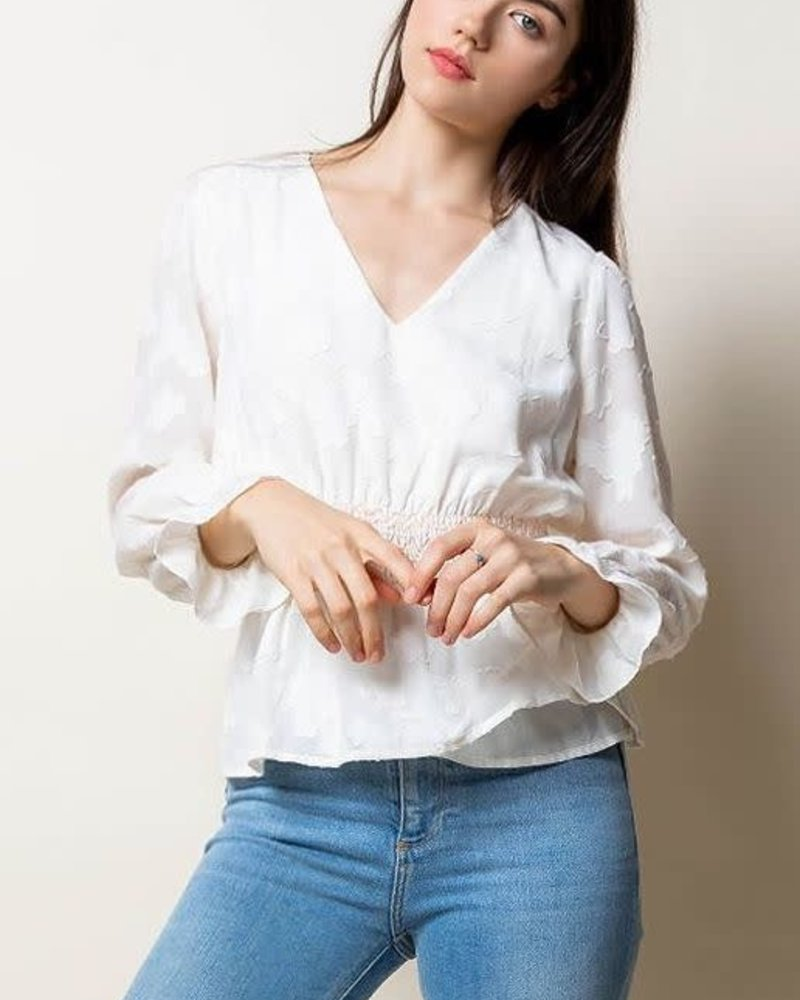 THML THML 'Ivory Tower' Long Sleeve Top