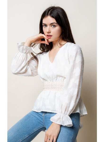 THML 'Ivory Tower' Long Sleeve Top