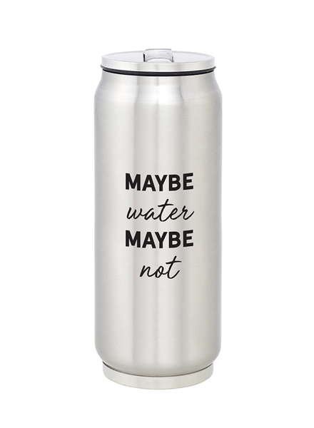 SB Design Studio Large Stainless Steel Can   Maybe Water