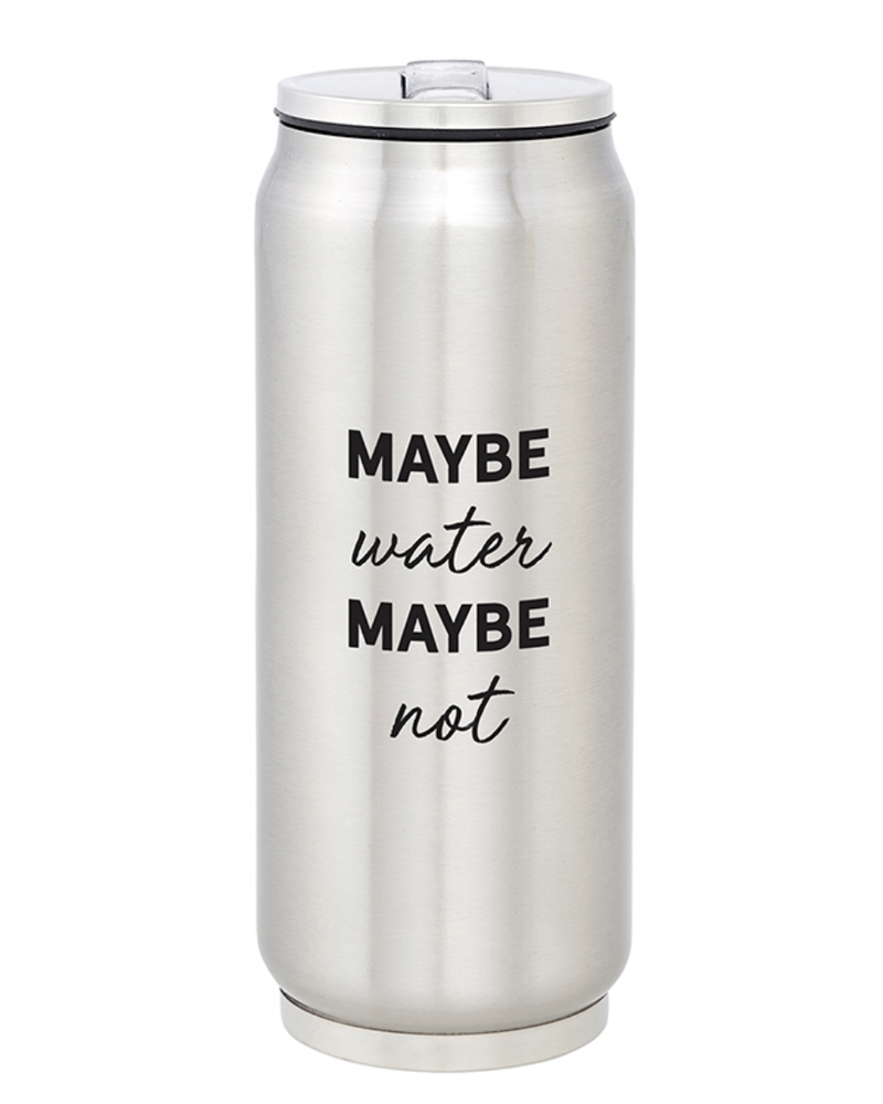 SB Design Studio SB Design Large Stainless Steel Can   Maybe Water