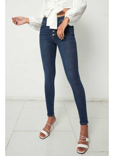 Kancan 'Birdie' High Rise Curvy Super Skinny Jeans