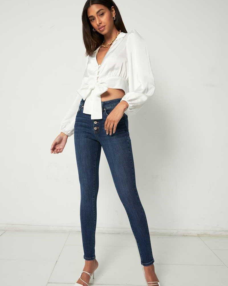 Kancan Kancan 'Birdie' High Rise Curvy Super Skinny Jeans