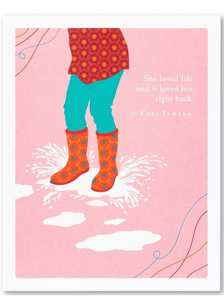 Compendium Birthday Card | 'She Loved Life'