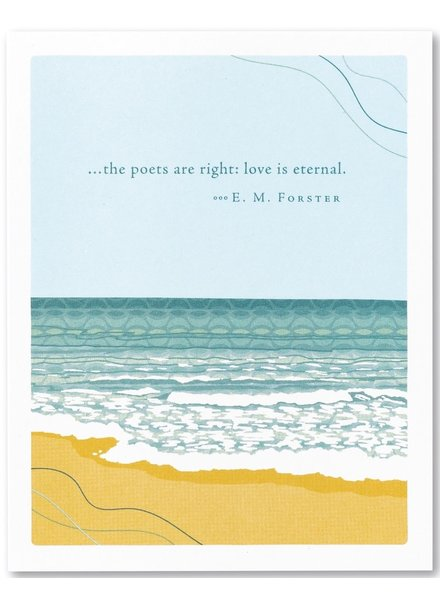 Compendium Sympathy Card | 'The Poets are Right'
