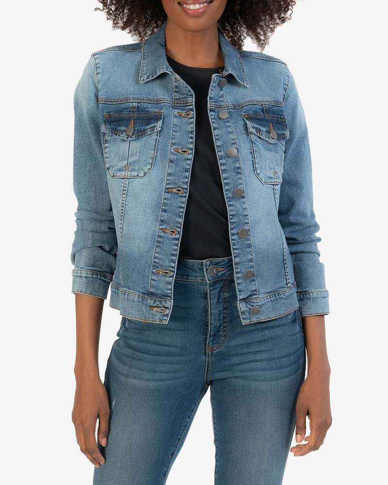 Kut from the Kloth Kut from the Kloth 'Amelia' Denim Jacket in Ready