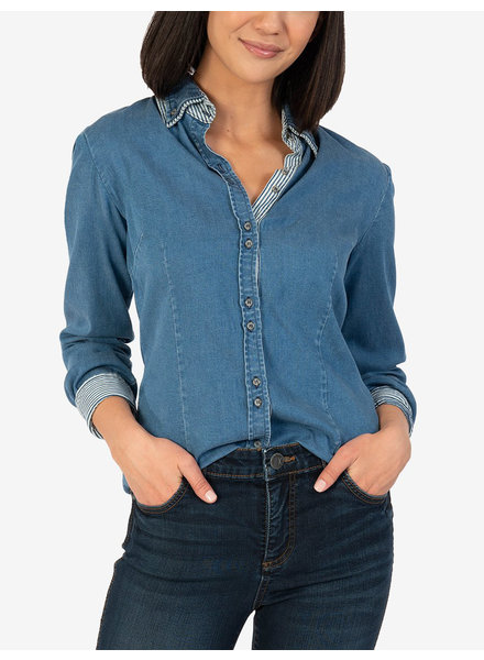 Kut from the Kloth 'Bryniee' Button Up Denim Shirt