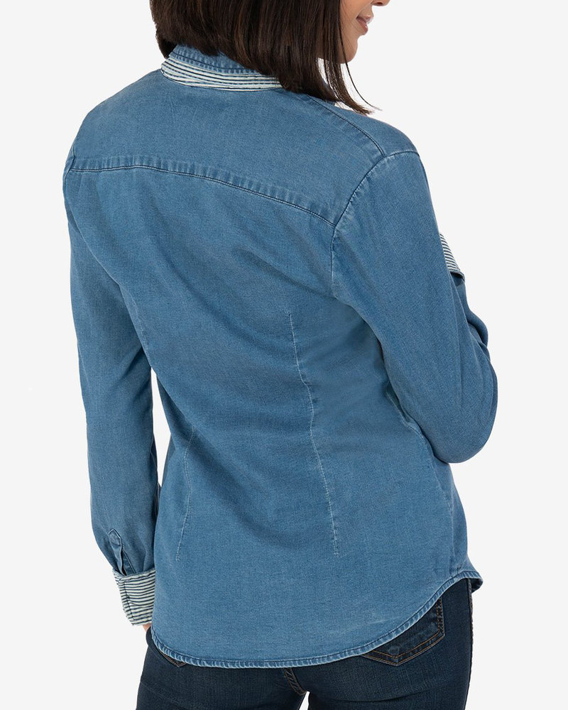 Kut from the Kloth Kut From The Kloth 'Bryniee' Button Up Denim Shirt