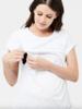 Ripe Ripe Maternity White  'Richie' Nursing Tee
