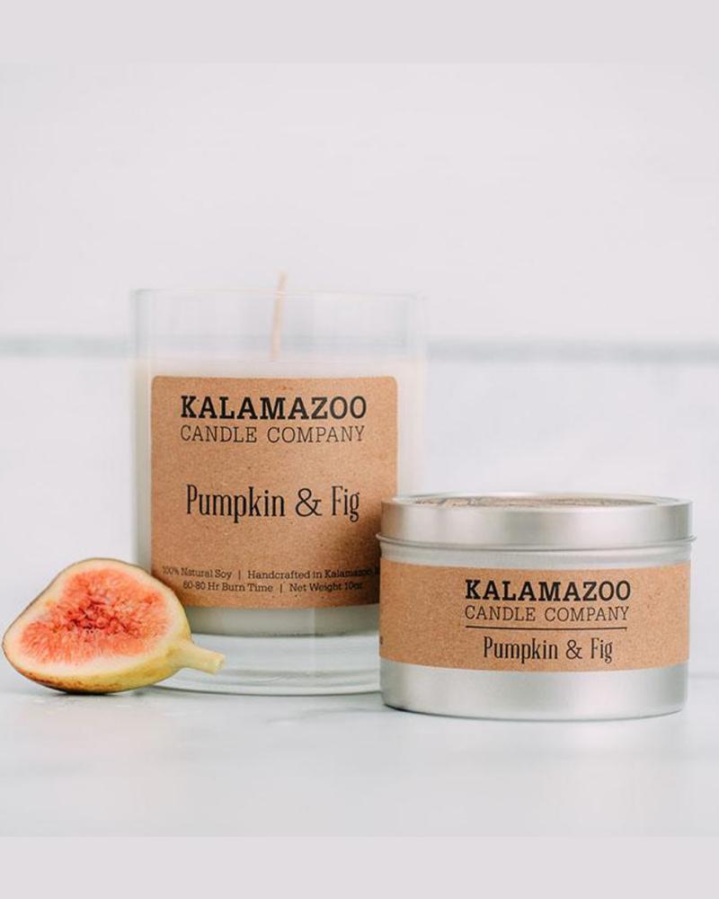 Kalamazoo Candle Co. Kalamazoo Tin Candle in Pumpkin & Fig
