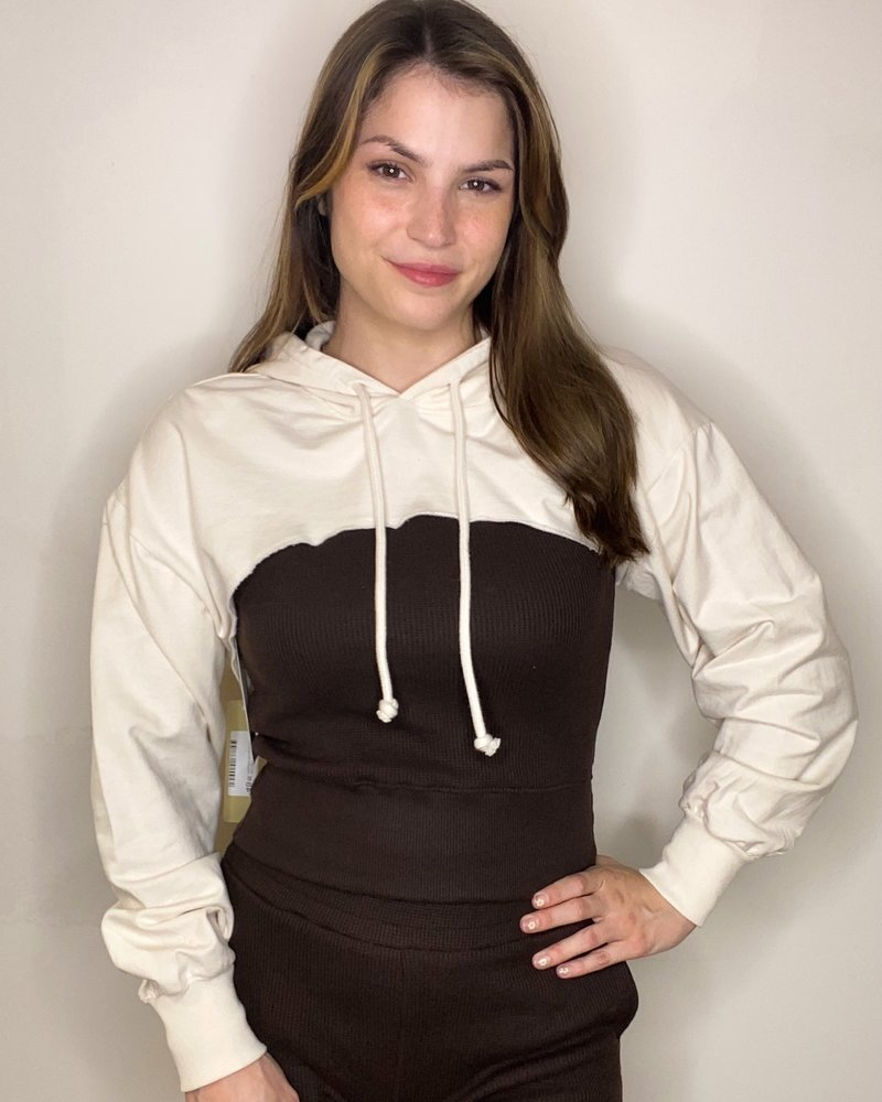 RD Style RD Style 'Almond Milk' Hooded Shrug