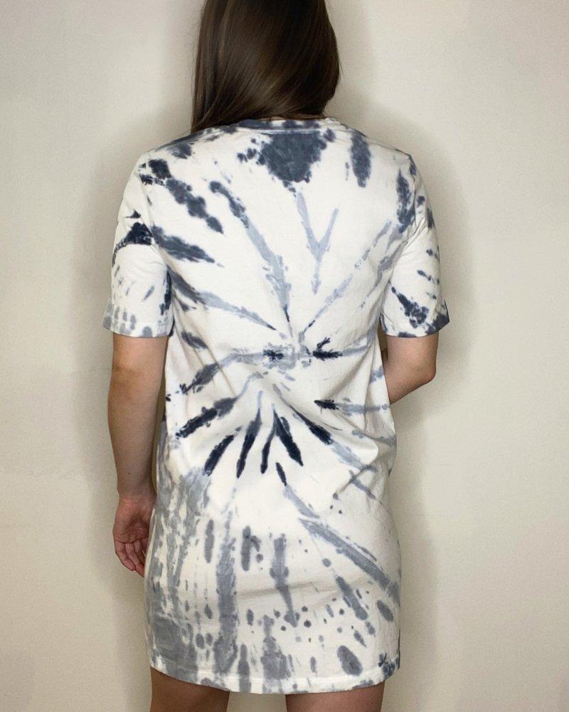 RD Style RD Style 'Dye Explosion' Tie-Dye Shirt Dress
