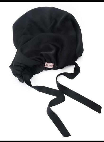 KITSCH Satin Sleep XL Adjustable Bonnet | Black
