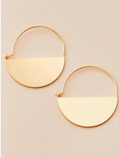 Scout Curated Wears Refined Earring Collection Lunar Hoop in Gold Vermeil