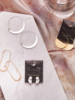 Scout Curated Wears Scout Refined Earring Collection Lunar Hoop in Gold Vermeil