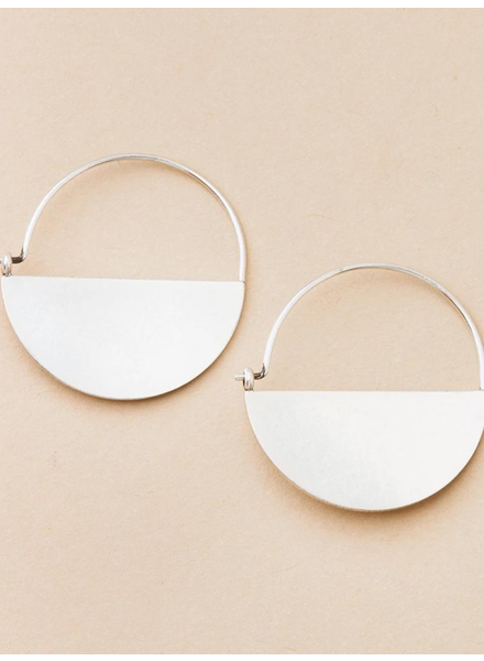 Scout Curated Wears Refined Earring Collection Lunar Hoop in Sterling Silver
