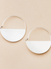 Scout Curated Wears Scout Refined Earring Collection Lunar Hoop in Sterling Silver