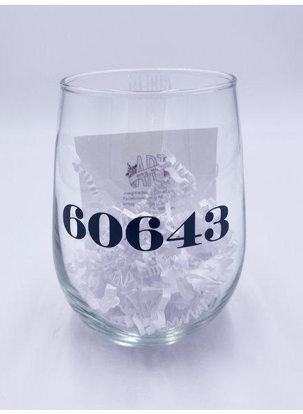 Meg Made Art '60643' Wine Glass