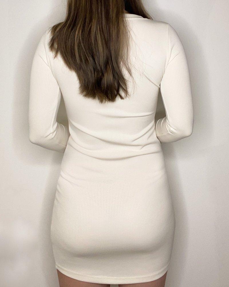 BB Dakota BB Dakota Oatmeal 'V Specific' Dress