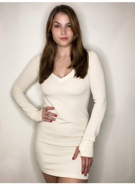 BB Dakota Oatmeal 'V Specific' Dress