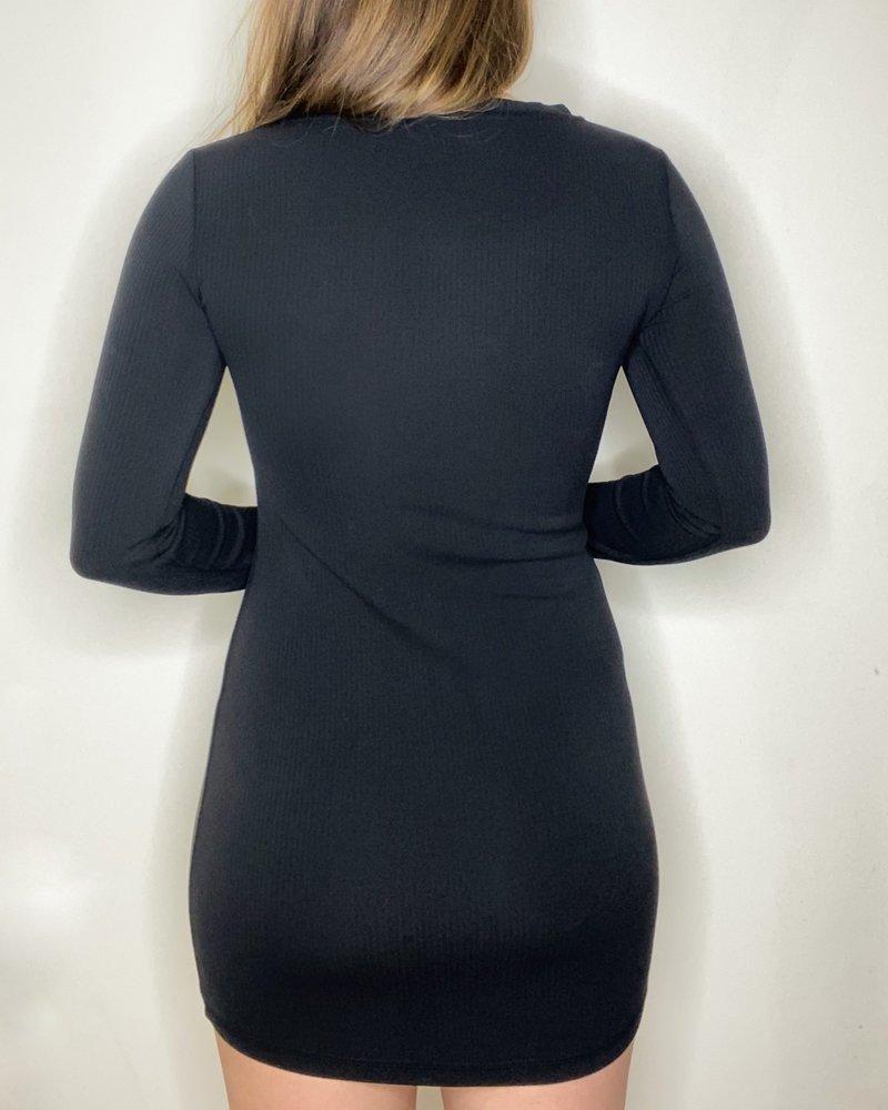 BB Dakota BB Dakota Black 'V Specific' Dress