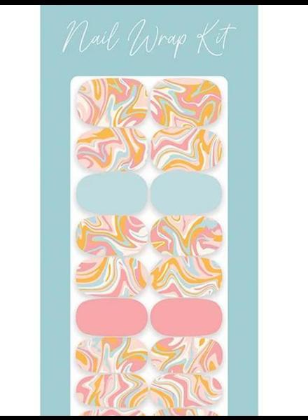 Studio Oh! Mani Nail Wrap Kit | Retro Swirl