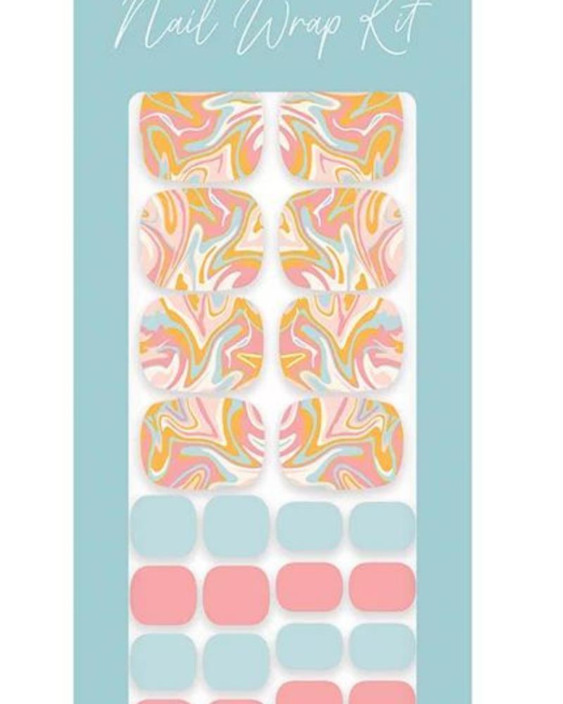 Studio Oh! Studio Oh! Pedi Nail Wrap Kit | Retro Swirl