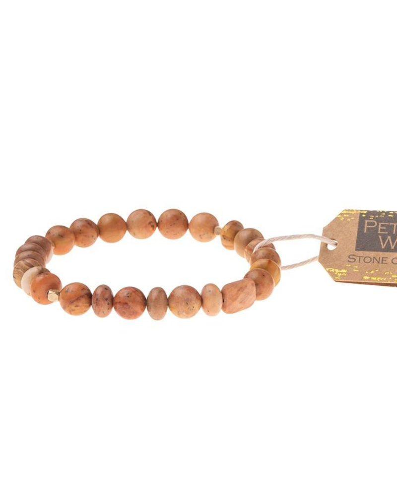Scout Curated Wears Scout Petrified Wood Stone Stacking Bracelets